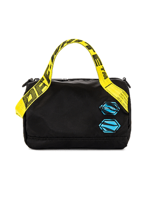 OFF-WHITE Nylon Baby Duffle Bag in Black.