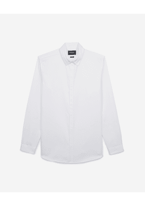 The Kooples - Classic-collar chic white shirt in cotton - MEN