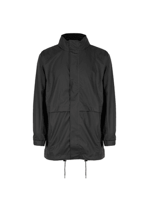 Rains Matte Black Rubberised Raincoat