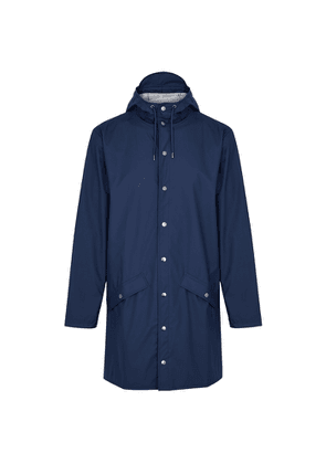 Rains Navy Rubberised Raincoat