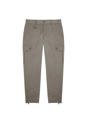 Dolce & Gabbana Grey Cotton-blend Cargo Trousers