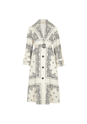 Tory Burch Printed Cotton Trench Coat