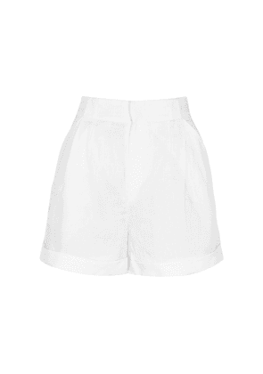 Equipment Boyde White Linen Shorts