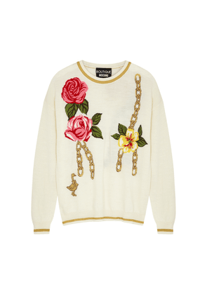 Boutique Moschino Floral-intarsia Wool-blend Jumper