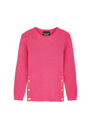 Boutique Moschino Pink Ribbed Wool-blend Jumper
