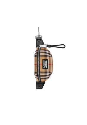 Burberry Vintage Check And Leather Bum Bag Charm