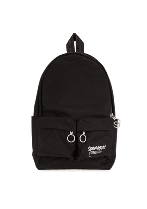 Off-White Black Printed Canvas Backpack