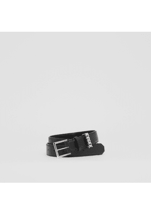 Burberry Chain Detail Leather Belt, Black