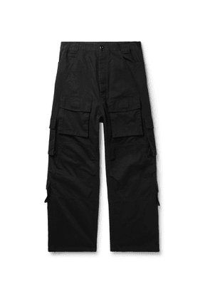 Balenciaga - Cotton-Twill Cargo Trousers - Men - Black