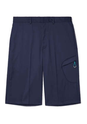 Givenchy - Wide-Leg Super 110s Virgin Wool Shorts - Men - Blue