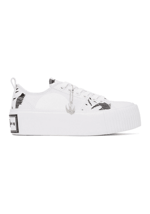 McQ Alexander McQueen White and Black Plimsoll Platform Low Sneakers
