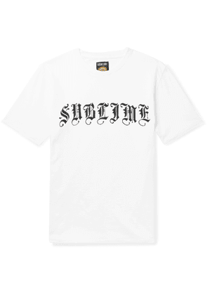 Wacko Maria - Sublime Logo-Print Cotton-Jersey T-Shirt - Men - White