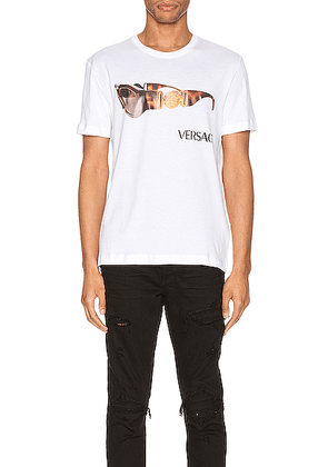 VERSACE Graphic Tee in Optical White - White. Size M (also in XL).