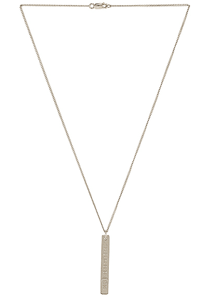 Maison Margiela Necklace in Palladio Polished - Metallic Silver. Size all.