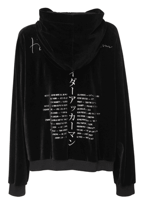 Embroidery Cotton Blend Velvet Hoodie