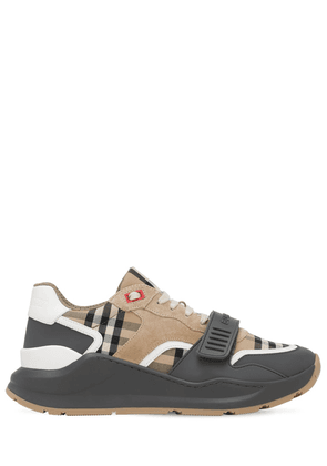 30mm Ramsey Check & Leather Sneakers