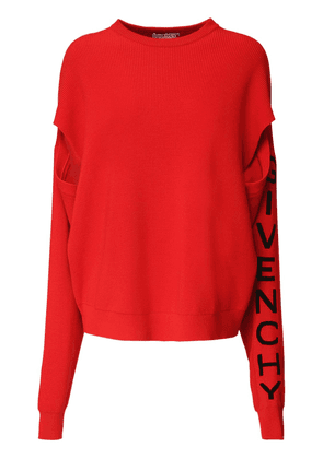 Oversize Logo Wool Blend Knit Sweater