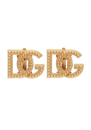 Logo clip-on earrings
