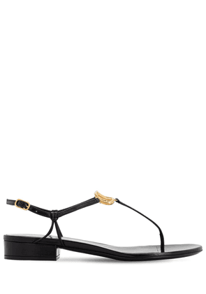 20mm Vlogo Leather Thong Sandals