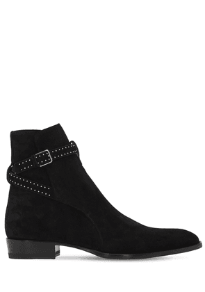 30mm Wyatt Studded Suede Boots
