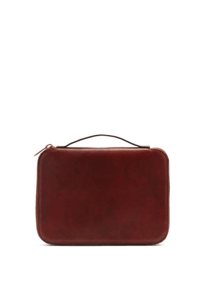 Brunello Cucinelli - Grained-leather Document Holder - Mens - Brown