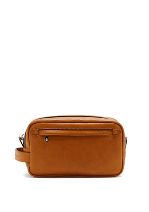 Brunello Cucinelli - Grained-leather Washbag - Mens - Brown