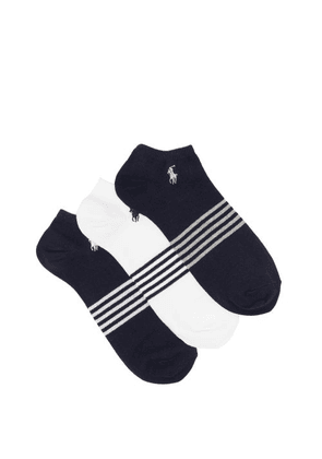 Polo Ralph Lauren - Pack Of Three Logo-embroidered Socks - Mens - White Multi