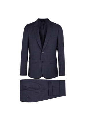 Paul Smith Soho Navy Checked Wool Suit