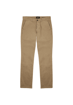 7 For All Mankind Brown Luxe Performance Slim-leg Chinos