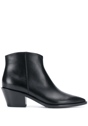 Gianvito Rossi pointed tapered-heel boots - Black