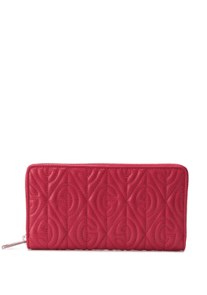 Gucci embossed G continental wallet - Red