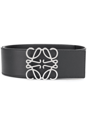 Loewe Anagram leather buckle belt - Black