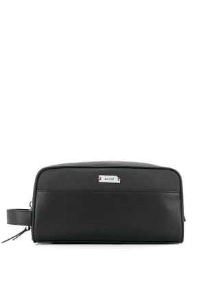 Bally panelled cotton wash bag - Black