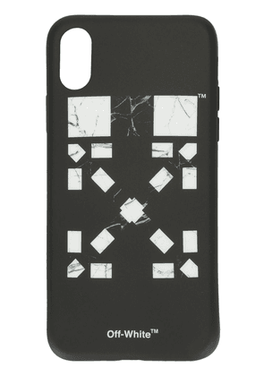 Off-White x Vancouver Marble Arrows iPhone X cover - Black