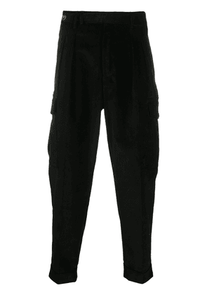 Pt01 corduroy tapered-leg trousers - Black