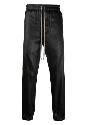 Rick Owens shiny effect track trousers - Black