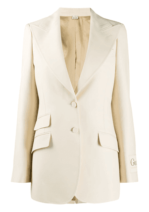 Gucci Gucci Glitter single-breasted blazer - Neutrals