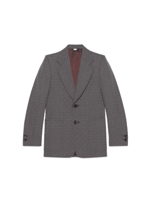 G hexagon grisaille wool jacket