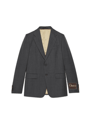 Wool jacket with Gucci label