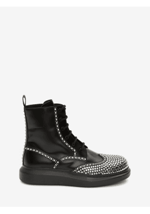 ALEXANDER MCQUEEN Hybrid Lace Up Boot - Item 610808WHX591081