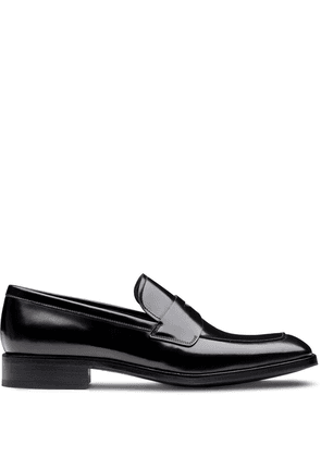 Prada square-toe brushed loafers - Black