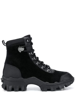 Moncler ridged-sole military boots - Black