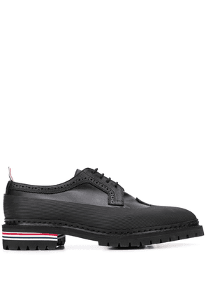 Thom Browne Longwing vulcanised brogues - Black