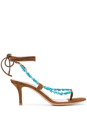 Gianvito Rossi Ric lace-up sandals - Brown