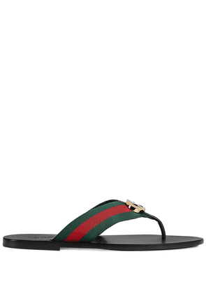 Gucci striped logo-embellished sandals - Black