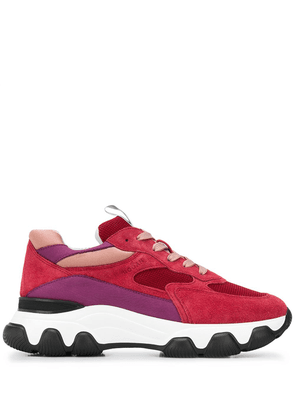 Hogan lace-up low-top sneakers - Red