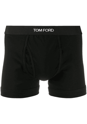 Tom Ford logo waistband boxer briefs - Black
