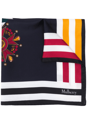 Mulberry panelled logo scarf - Blue