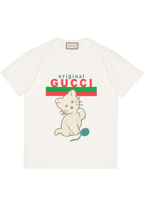 Gucci Kitten relaxed-fit T-shirt - White
