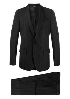 Dolce & Gabbana pinstripe single-breasted two-piece suit - Black